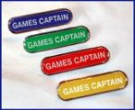 GAMES CAPTAIN - BAR Lapel Badge